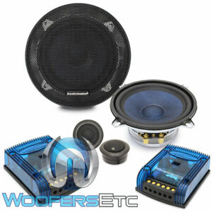 """AUDIOBAHN ABC525T 5.25"""" 120W RMS COMPONENT SPEAKERS SILK TWEETERS CROSSOVERS NEW"""