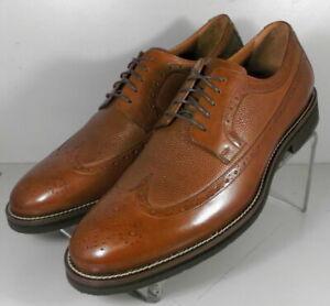 591676 SP50 Men's Shoes Size 9 M Dark Tan Leather Lace Up Johnston & Murphy