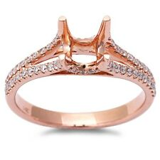 .31ct 14kt Rose gold E-SI Round Diamond Semi Mount Engagement Ring