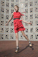 NWT Anthropologie Ruffled Oska Silk Dress Size 2