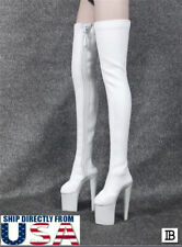 1/6 Women Over The Knee High Heel Boots For Hot Toy PHICEN Female Figure U.S.A.