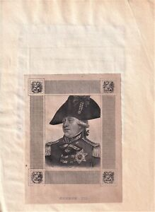 """GEORGE III original engraving from GEORGE SMEETON'S """"THE UNIQUE"""" 1827"""