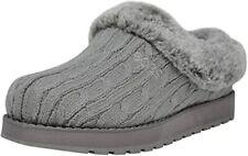 Skechers BOBS Women's Grey knit/Fabric w/ Rubber Sole Keepsakes Slipper 8 W US