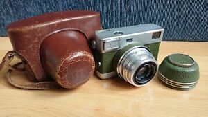 Carl Zeiss Werra 4 (IV) Olive 35mm Film Rangefinder Camera + Tessar 2.8/50 +Case