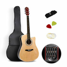 41in Professional 5 Band EQ Full Size Cutaway Electric Acoustic Guitar Natural