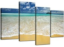 Extra Large Blue Canvas Wall Art Pictures Set XL 130cm Beach Sea 4043