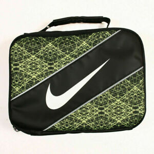 Nike Just Do It Insulated Storage BLACK SILVER Lunch Box Black Tote Bag NEW $25