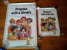 Propose with a Stroh's, Original 1980 Strohs Beer Posters