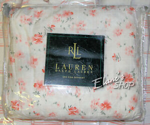 RALPH LAUREN SUMMER COTTAGE Pink Floral KING BED SKIRT New In Package RARE $150