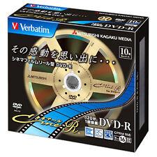 10 Verbatim Blank DVD Discs 4.7GB 16x DVD-R DVDR VHR12JC10V1 Cine-R Design