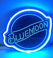 Blue Moon 3D Carved Real Neon Sign Bed Room Home Decor Beer Bar Pub Light