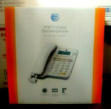 (1) ATT Corded Home Office Landline Speaker Phone With Caller ID Desk Wall Mount