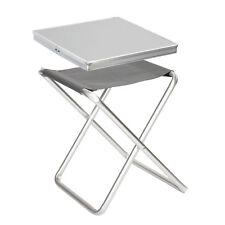 BO CAMP Alu Tisch-Platte für Klapp Hocker Falt Stuhl Angler Sitz Auflage Camping