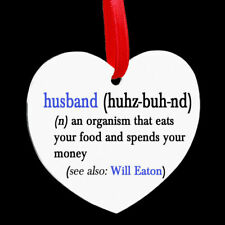 Personalised Heart Shaped Metal Hanging Plaque Valentine Day Husband Funny