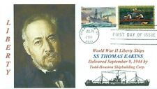 THOMAS EAKINS, Ship named for Portrait Artist Color Cachet,First Day of Issue PM