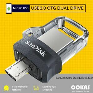 ORIGINAL SanDisk Ultra Dual M3.0 128GB USB Flash Drive OTG Pendrive NEW