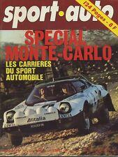 SPORT AUTO n°168 01/1976 avec encart & poster MONTE CARLO PORSCHE 924 KADETT GTE