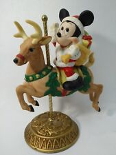 Disney Carousel Figurine Mickey Mouse Santa New England Collectors Society