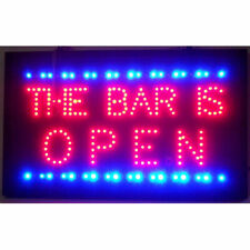 The Bar is Open Motion Bright Led sign wall or window lamp light opti neon