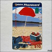 Telstra Christmas  Beach Scene 1995  N954423a 963 $10 Phonecard (PH8)