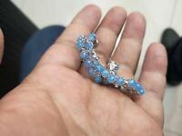 Beautiful White Gold, Opal And Tanzanite Bracelet