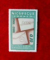 1960 NICARAGUA 100th ANNIV POSTAGE STAMP MINT HINGED 0.10