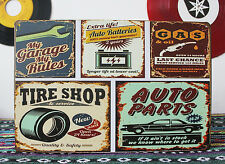 Auto Parts Tire Shop Gas 24hrs Metal Tin Sign Workshop Wall Decor Garage Auto Ad
