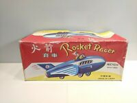 Vintage #6 Tin Rocket Racer Made in China w/ Original Box