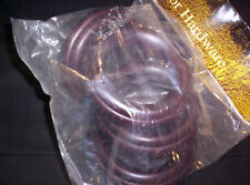 "4 Set EYELET WOOD Curtain RINGS 4-1/4"" out for 2-1/2"" diam. Pole, CHERRY Finish"
