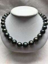tahitian black natural pearl necklace