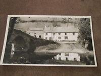 Real Photographic Postcard - Packhorse bridge - Malmsmead - Lynton Devon