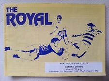 Reading v Oxford United  League Cup 1st Round 1st Leg 1982 - 1983