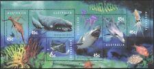 Australia 1998 Planet Oceano/SHARK/balena/delfino/Ray/Marino/NATURA 6 V M/S (s820)