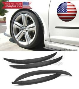 "2 Pairs 13"" Carbon Diffuser Fender Flare Lip Trim For Chevy Wheel Wall Panel"