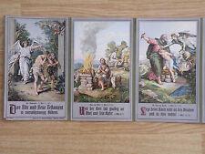 24 Biblische Bilder als Leporello Lithografie in Punktmanier von 1912