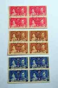 St Christopher 1937 Coronation Stamp Set B/4 CTO BM78