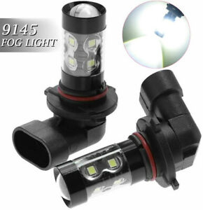 2pcs 9145 LED Fog Driving Light Bulbs DRL Lamps Conversion Kit 6000K Xenon White