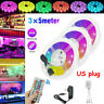 49 FT Flexible Strip Light Fairy Lights 3528 RGB LED SMD Remote Home Bar Party