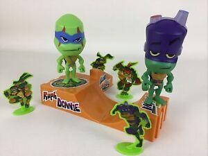 Teenage Mutant Ninja Turtles Rise of the Turtles Skateboard 9pc Lot Sonic TMNT