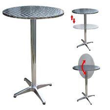 Alu Klappbar Bistrotisch Höhenverstellbar Bartisch Bistro Tisch Stehtisch Ø60cm