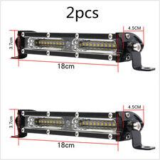 2pcs 3 inch 90W Ultra-Thin LED Light Bar Combo Beam Spot Flood Beam ATV Pickup