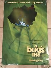 A BUG'S LIFE Disney Original Authentic Movie Poster Double 2 Sided DS 27x40
