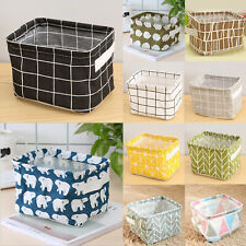 Foldable Storage Fabric Basket Bag Bin Closet Toy Box Organizer Home Container