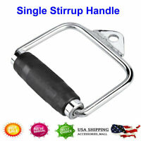 US Single Handle Cable Attachments Machine Home Workout Fitness D-Handle Stirrup