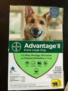 Advantage II Extra Large Dog Over 55 lbs. 6 pack USA EPA  approved