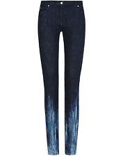 MAISON MARTIN MARGIELA Indigo DIP / TIRANTE Tinto Jeans Skinny * E 38 / UK 6 lungo * - NUOVO -