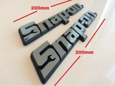 TWO Snap-On Tools 3D Chrome Badges Tool Box Logo Decal Snap On Sticker *OFFER*