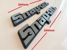 Dos Snap-on Tools 3D Cromo insignias herramienta caja con logotipo Calcomanía Adhesivo * OFRECER * Snap en