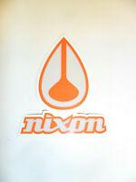 "NIXON Decal Sticker - White / Orange - Approx. 4"" x 3.5"""