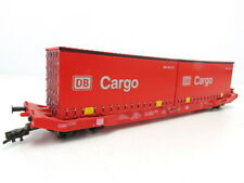 (LS261) Mehano 19844 DC H0 Containertragwagen Sgkkms 698 der DB Cargo OVP